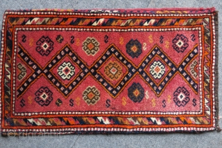 Eastern Turkey - Gaziantep pillow case with backing. Possibly Kurdish origine. Light cochineal color background. Circa 1920- 30s. Full pile, great condition. 