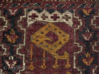 "Ersari torba fragment. Size: 14.5"" x 22"" - 37 cm x 56 cm."