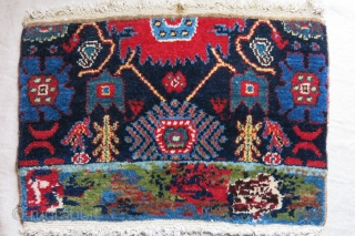 Kurdish SENNE Sampler, sigle wefted. full pile, cotton foundation. Red looks bright in photos , it is not in as bad as it looks. It much more madder red. Circa 1920 -  ...