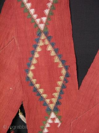 "Central Asian Uzbekistan Lakai wool tent band. All natural dyes 6"" x 250"" - 15cm x 637cm."