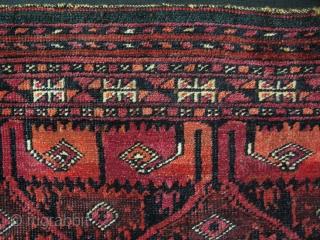 "Turkmen Saryk torba. Good pile no repairs. Size: 15"" x 33"" - 38cm x 84cm."
