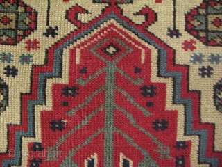 "West Anatolian Manisa Kula rug. All wool natural colors. No repairs, good condition. Circa 1900 Size: 37"" x 52"" -94 cm x 132 cm."