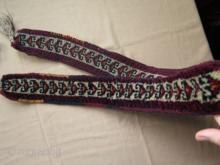 "Kurdish pile band.Size is 3"" x 52"" - 8 cm x 132 cm long without tassels."