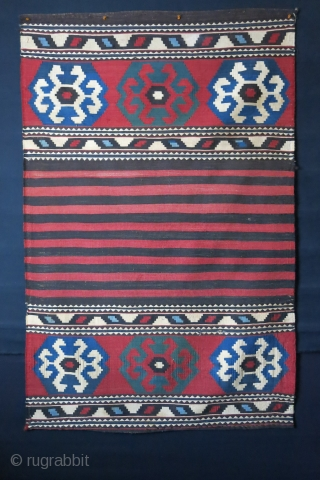 "Shahsavan mafrash panel, natural dyes, fine weave - size: 66"" X 42"" -- `68 cm x 108 cm"