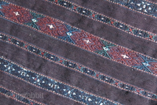 "Turkmen Yomud tribal kilim chuval with original backing and side strap, Circa 1900 size : 43"" X 31"" - 110 cm X 80 cm"