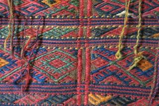 """Kurdish horse blanket. Size: 41.7"""" x 45.6"""" - 106 cm x 116 cm."""