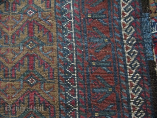 "Baluch rug. Camel hair ground. Circa 1900. Size: 40"" x 59"" - 103 cm x 151 cm."
