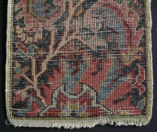 "Small Heriz sampler. Great condition and colors. Size: 13.5"" x 17"" - 35 cm x 43 cm."