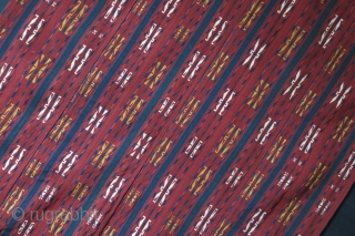 "Turkmen - Yomud Kilim, recycled from tent bend fragments. Saturated colors. Circa 1900 or earlier, size :  55"" X 38.5"" - 140 cm X 98 cm"