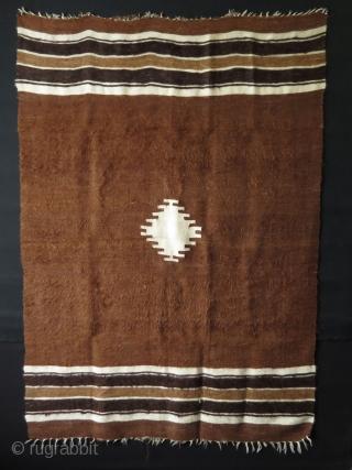 "Anatolian - Siirt goat hair kilim & blanket. Size: 49"" x 69"" - 124 cm x 176 cm."