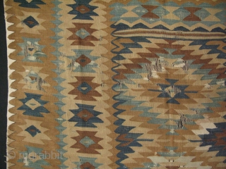 Manastir kilim. It has some condition issues. Circa late 19th Century. 
