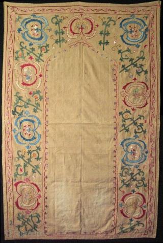 "Bukhara prayer design Suzani. Size: 36"" x 51"" (92cm x 129cm)."