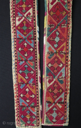 "Uzbekistan Lakai silk embroidered belt. Size: 3"" x 45"" - 7.5 cm x 114 cm."