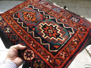 "Afshar bag. Great colors and soft silky wool. Size: 21"" x 28"" - 53 cm x 71 cm."