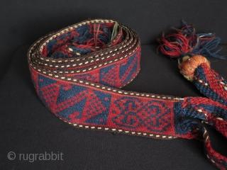 "Kurdish Herki pack animal band. Size: 2.9"" x 139.7"" - 7.5 cm x 355 cm."