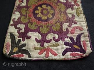 "Afghanistan Lakai both side silk embroidered bag. Size: 6.2"" x 8.2"" - 16 cm x 21 cm."