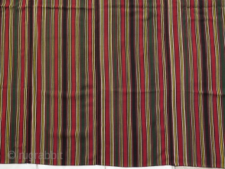 """Shahsavan finely woven silk Jajim. All natural colors. Circa 1900's. Size: 50"""" by 57"""" - 127 cm x 145 cm."""