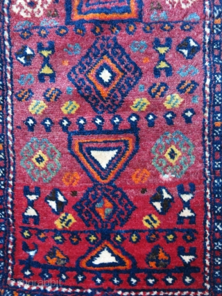 "South Eastern Anatolia Gaziantep - Kurdish yastik- antique pillow cover. very fine high altitude wool with natural colors. circa 1900 - 1920 - size : 29"" X 18,5"" -- 74 cm X  ..."