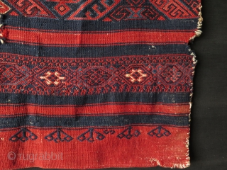 """Anatolian Yuncu chuval. Condition as it is found. Size: 28"""" x 43"""" - 72 cm x 109 cm."""