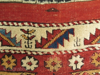 "West Anatolian small rug. Circa late 19th. century. It has worn areas from praying on it. Condition as it is found. Size: 36.5"" x 48"" 93 cm x 122 cm."