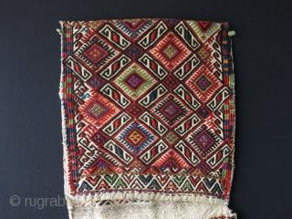 """Anatolian Zili saddlebag. Size: 15.3"""" x 49.2"""" - 39 cm x 125 cm."""