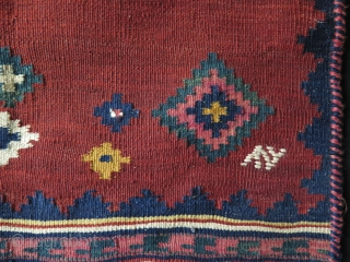 """Luri – Qashqai -  Sofreh. All wool with natural colors.  Size :  31.5"""" x 36"""" - 80 cm X 92 cm -  tassels – 12""""-13"""" - 30-35 cm  ..."""