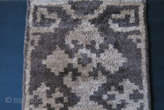 "Anatolia Konya Karapinar tulu type of rug, all natural wool mixed with some angora. Heavy for its size, thick pile. Circa early 20th century.  size : 77"" X 36"" - 92  ..."