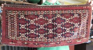 """Turkmen Yomud - Aksu torba. Size: 14.9"""" x 38 cm x 65 cm."""