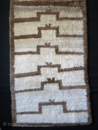 "Anatolian Karapinar  Turkmen tribal tulu rug, early 20th cent. soft shiny angora mix fine wool pile. Size: 79"" X 48"" - 200 cm X 122 cm"