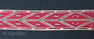 """Turkmen white chirpy collar. 4.5"""" x 53"""" - 11cm x 135cm."""