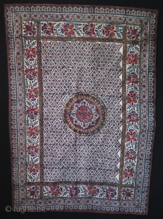 "Persian Isfahan block print. Size: 30.5"" x 43"" - 78 cm x 110 cm."