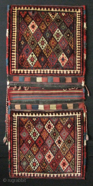"Kurdish complete camel bag. North West of Iran. There is fuchsine dye in it, as you can see on the last image. Size: 23.5"" x 54"" - 60 cm x 137 cm."