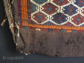 "Anatolian goat hair chuval. Size is 83 cm x 108 cm – 32.5"" x 42.5"""