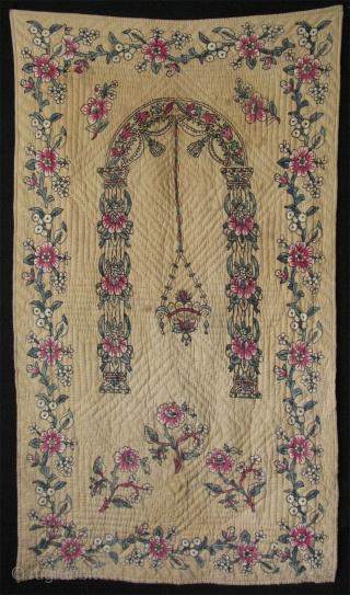 "Anatolian - Tokat block print prayer mat. Size: 32"" x 58"" - 82 cm x 147 cm."