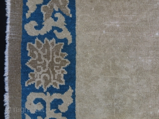 Chinese antique small rug. some wears but still has agood pile at most places.