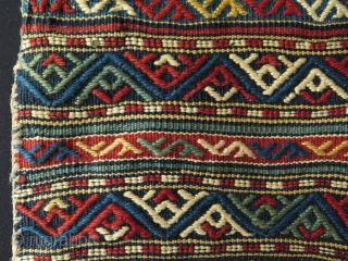 "Caucasian saltbag. Size: 14.5"" x 21"" - 37 cm x 54 cm."