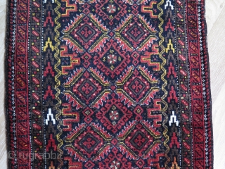 "Baluch Balisth. Great silky wool and soft handle. Size: 20"" x 31.5"" - 51 cm x 80 cm."