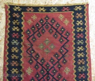 "Serbian Pirot kilim. Some small restorations. Size: 37"" x 60 "" - 95 cm x 153 cm."