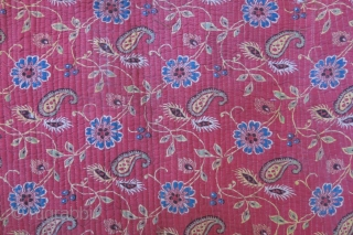 Uzbekistan Khorezm - Khiva Silk ikat Chapan.  Russian brocade fabric  quilted by hand sewing machine.  Various printed Russian cotton lining with Adras ikat facing. Embroidered collar and edges. It  ...