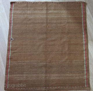"Afshar - Tribal wool sofreh. woven on cotton foundation and has a good patina. Size: 41"" X 36"" - 104 cm X 92 cm"