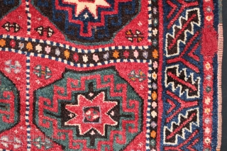 Kurdish rug. Early 20th century. Great pile and silky wool. Size: 59″ x 116″ - 151 cm x 294 cm.