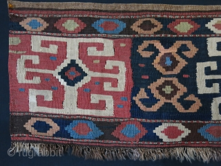 "Shasavan Miyenah bedding bag slit weave kilim side bedding bag panel. Natural colors, some old repairs in several places.  Circa 1900 - Size :  35"" X 17"" - 89 cm  ..."