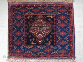 "Afshar pile bag face. full pile, great condition. Natural dyes. Circa 1900 -1920 size : 19"" X 16.5"" - 48 cm X 42 cm"