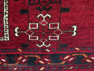 """Turkmen Ersari large torba. Great saturated natural colors. Whites are mostly cotton. Circa 1900. Size: 24"""" x 63"""" - 60 cm x 160 cm."""