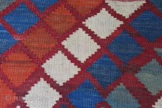 "Qashkai Kilim form Southwest fo Persia. Natural dyes and good condition with good patina. Very small are repairs can be seen on the images. Circa 1900 or earlier, size : 80"" X  ..."