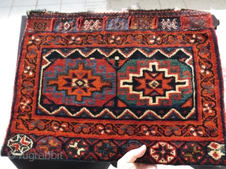 "Afshar half of a double bag. Size: 21"" x 28"" - 53 cm x 71 cm."