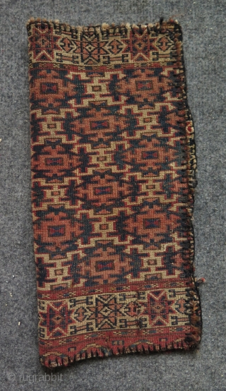 "Turkmen two torba fragments. Size 13"" x 14"" - 34 cm x 36 cm and 14.5"" x 14.5"" - 37 cm x 37 cm."