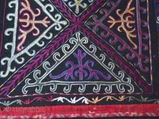 "Kyrgyz hanging. Silk embroidery on banat. Size: 17.5"" x 25"" - 45 cm x 64 cm."