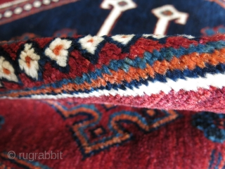 """Afshar main rug,wool on cotton foundation, full pile, traditional designs with fine weave very saturated colors, it looks like Qashkai wool and dyes.!! Size :  120"""" X 76.5"""" - 305 cm  ..."""