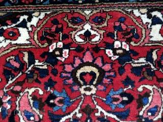 "Bakhtiari rug. Full great pile. Circa 1920's. Size: 56.3"" x 85"" - 143 cm x 216 cm."